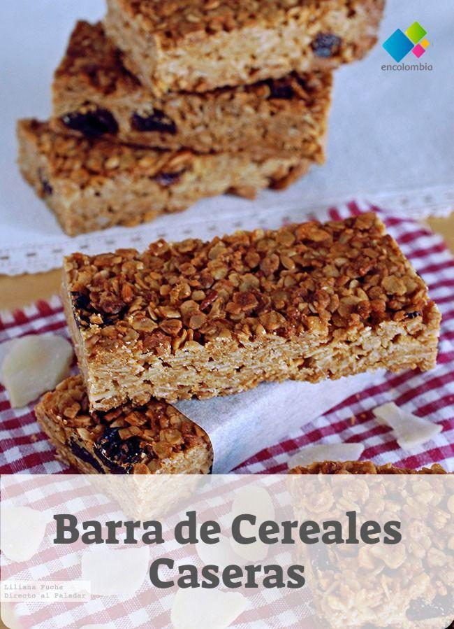 Barra De Cereales Casera Recetas De Desayunos Barra De Cereal Casera Cereal Casero Barra De Cereales