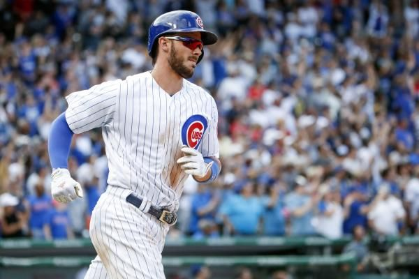 Chicago Cubs third baseman Kris Bryant left Wednesday's game against the Atlanta Braves in the first inning after spraining the little…