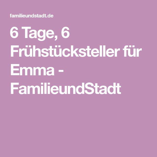 6 Tage, 6 Frühstücksteller für Emma - FamilieundStadt