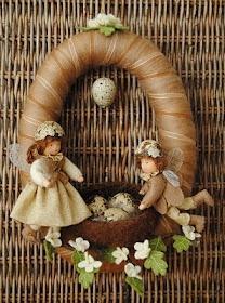 spring nest wreath (idea only)
