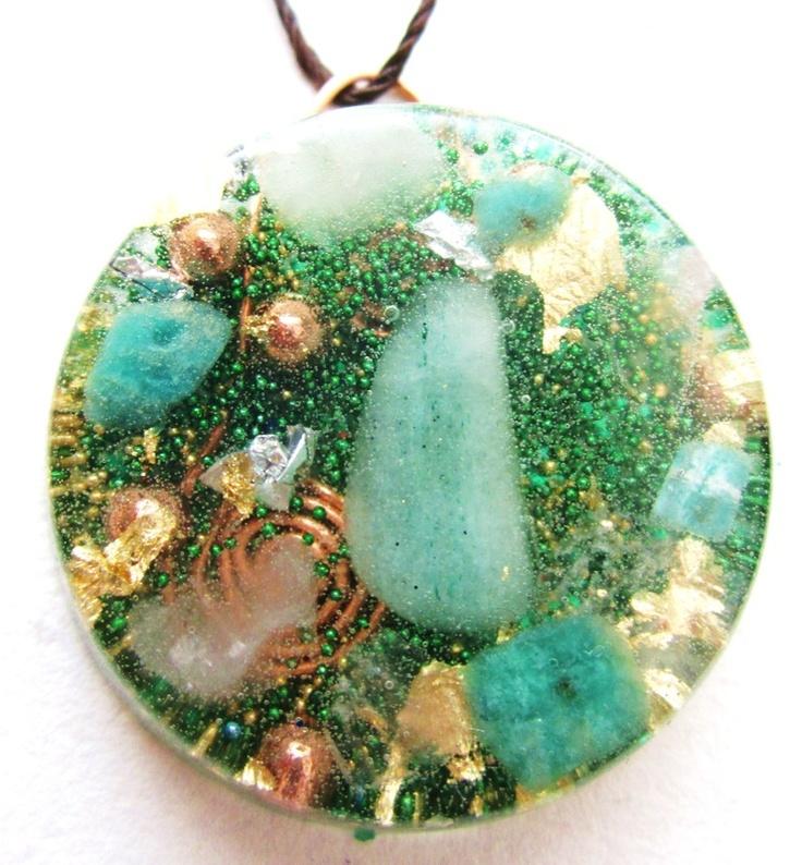 Healing Green Pendant-see description at healingorgones.com