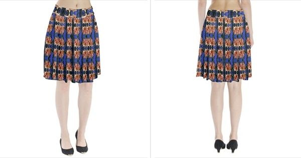 The Flowers  Pleated Skirt