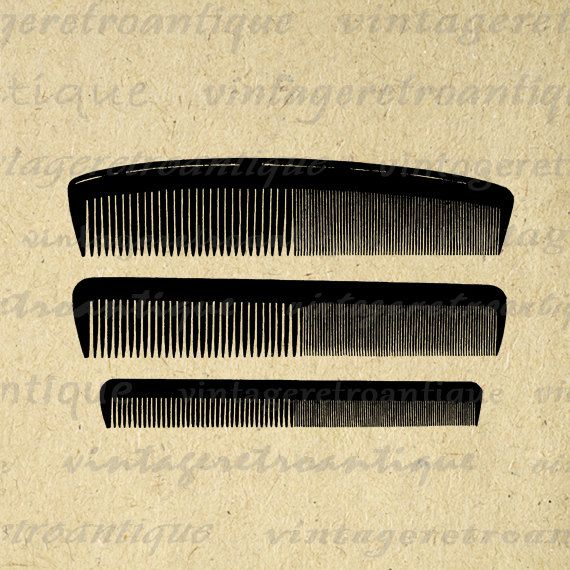 Printable Image Set of Combs Graphic Comb Hair Salon Hairdresser ...
