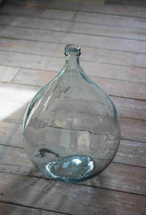 Huge glass Bottle Vase - unique home decor at www.aprilandthebear.com