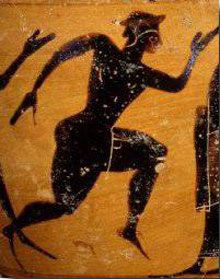 In 490 BC the Athenian army beat the powerful Persian army at the Battle of Marathon. Phidippides was called upon to run to Athens (26 miles away) to carry the news of the victory and the warning about the approaching Persian ships. Phidippides rose to the challenge. Pushing himself past normal limits of human endurance, he reached Athens in about 3 hours, delivered his message and then died shortly thereafter from exhaustion.