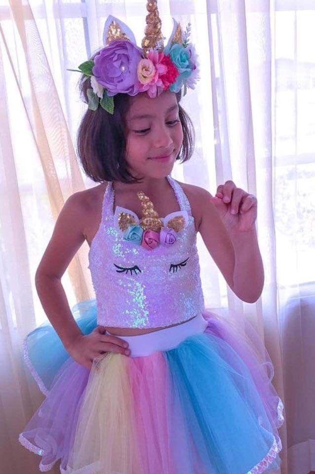 Pin De Victoria Velarde Em Halloween Ideas Festas De Aniversario Unicornio Tutu Arco Iris Vestido De Unicornio