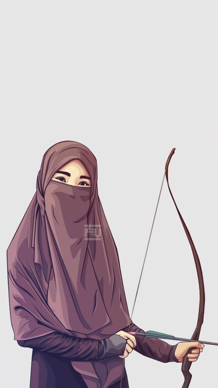 Wallpaper Wa Muslimah Panahan Hd 1080px Di 2020 Gambar Kartun Kartun Gambar