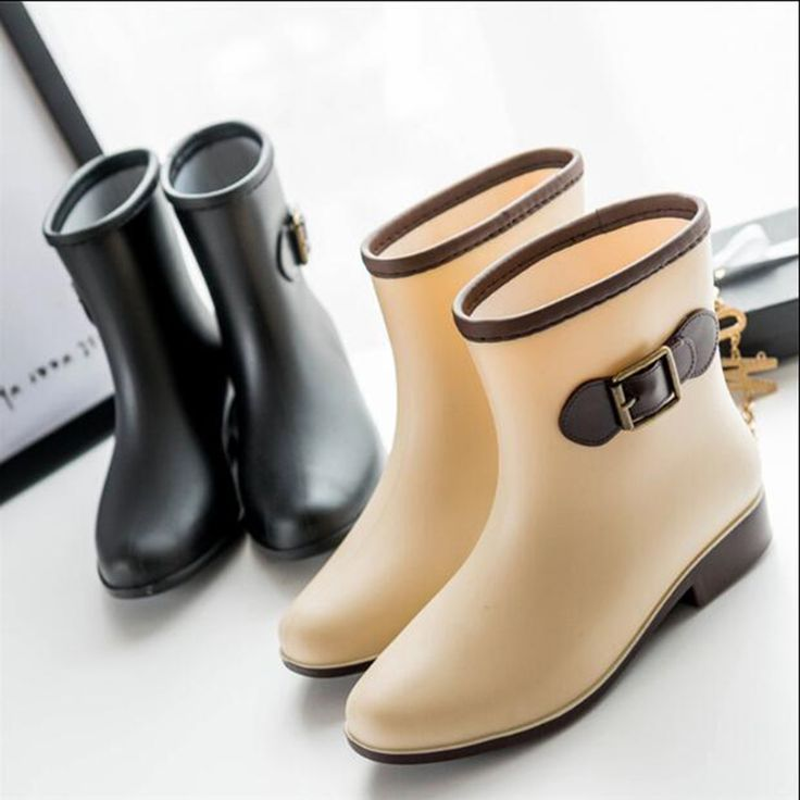 New 2016 Women's Designer Shoes Waterproof Rain Boots Casual Female Water Lady Shoes Women Ankle Boots Plus Size 35-41 bd40