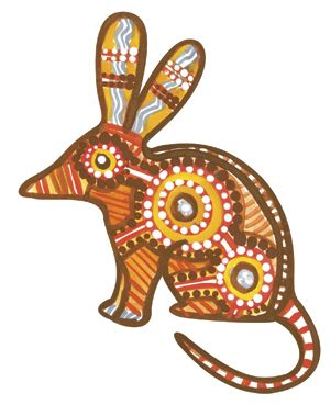 bilby aboriginal Colouring Pages