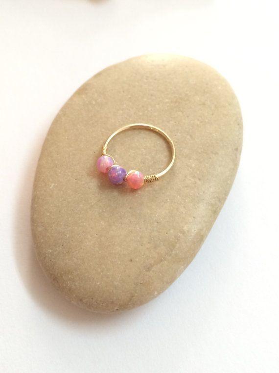 Opale Conch Piercing conque boucle d'oreille par FlowerRainbowNJ