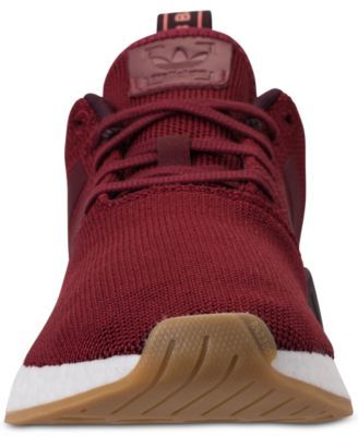 purchase cheap 09371 fe82f adidas Men s Nmd R2 Casual Sneakers from Finish Line - Red 12.5
