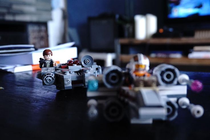 "@christineagkh on Instagram.""🔹 Some people have decorative coffee table books, I have star wars lego. Home and interior inspiration, denim wallpaper, lego decoration."