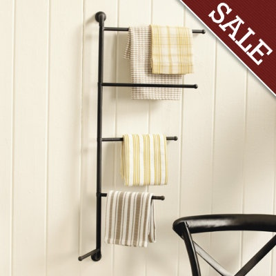 Repurpose A Towel Rack For Hanging Blankets Made By Grammie On The Inside  Of The Closet
