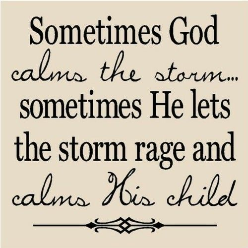 """So true!! Life isn't always easy and sometimes people blame God for it saying """"he should calm everything"""" or """"if he loved me he would fix this and make it easier"""" but  they are all missing the point he is standing right in front of you telling you how to fix it....stay calm and trust God!!:)"""