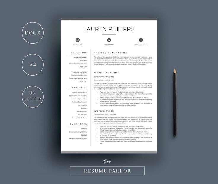 Resume 4 Page | A4 + US Letter - Resumes