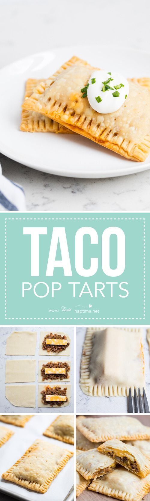 Taco Pop Tarts …AKA mini taco pies are one of my families favorite! The flaky crust, seasoned taco meat, colby-jack cheese and fresh salsa give these such amazing flavor!