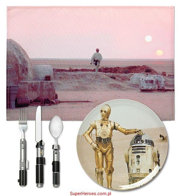 Zestaw obiadowy Star Wars - planeta Tatooine