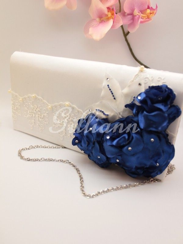 Свадебная сумочка клатч Gilliann Karlin Navy BAG251 #weddingbag #weddingclutch
