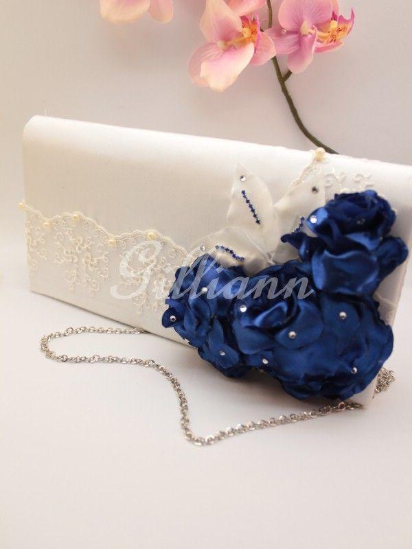 Свадебная сумочка клатч Gilliann Karlin Navy BAG251 #weddingbag #weddingclutch