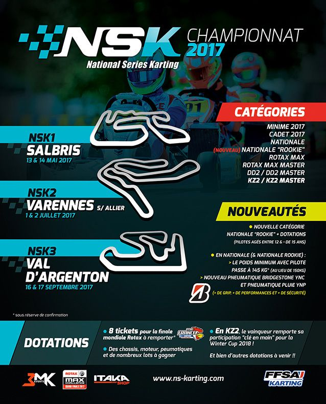 Calendrier complet NSK 2017