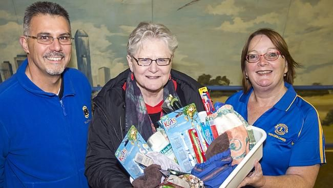 The Taylors Lakes Lions provided ready-made bags of toiletry items to local food bank.
