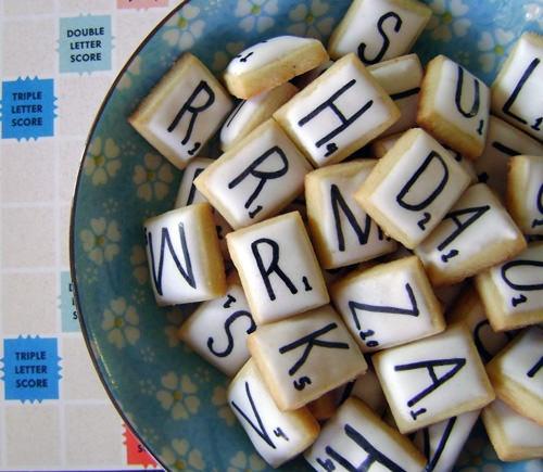 scrabble cookies: Cake, Idea, Recipe, Sweet, Game Night, Food, Scrabble Tile, Dessert