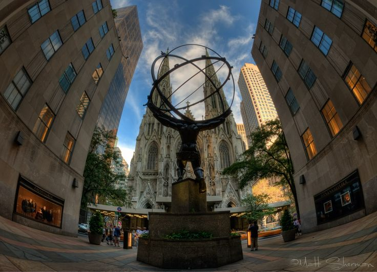 Atlas and St. Patrick's Cathedral