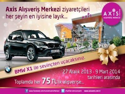 Axis AVM Çekiliş Kampanyası - Kağıthane Axis AVM BMW X1 Çekilişi http://www.kampanya-tv.com/2014/02/axis-avm-cekilis-kampanyasi-kagithane-axis-avm-bmw-x1-cekilisi.html