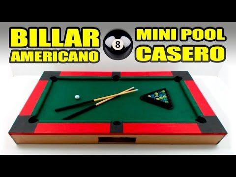 (9) MINI POOL o BILLAR AMERICANO - Increíble juguete casero - YouTube