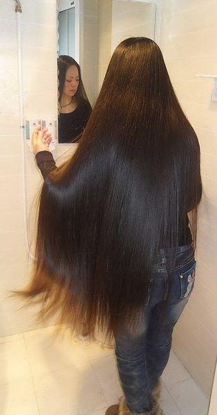 .Love that shiny long dark flowing hair!
