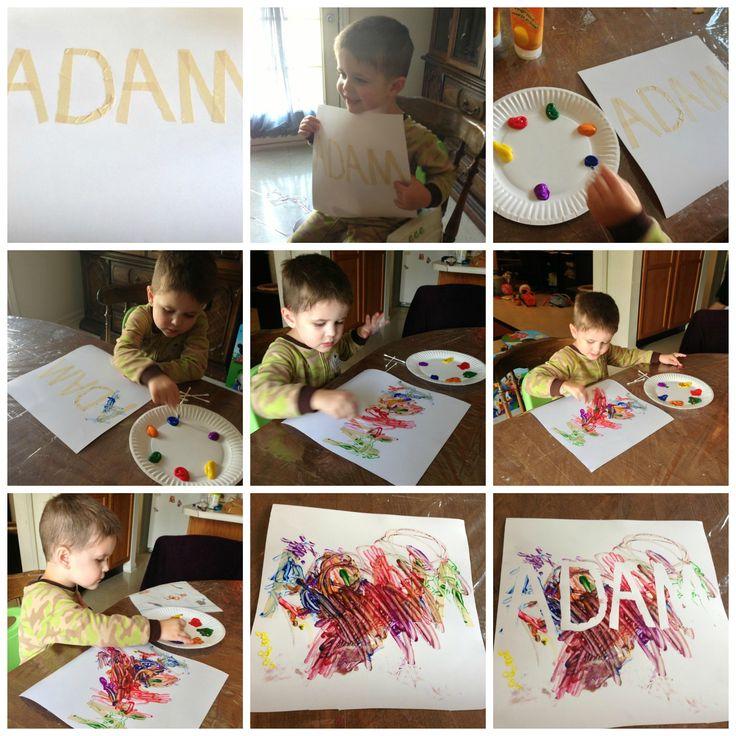 Fun Finger Paint Art Project for Kids! #kids #craft #homemadegift