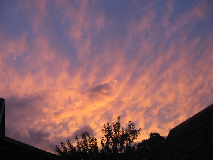 Sobotní západ slunce 19.8.2017