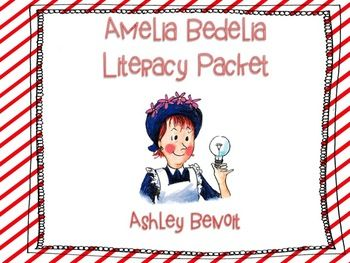 40% OFF~~This Packet Contains Reading Printables to go a long with any Amelia Bedelia story! It also contains literacy stations and writing activities for Amelia Bedelia Goes Camping and Good Work, Amelia Bedelia.  {13} Printables and 2 Literacy Centers  Thank You!