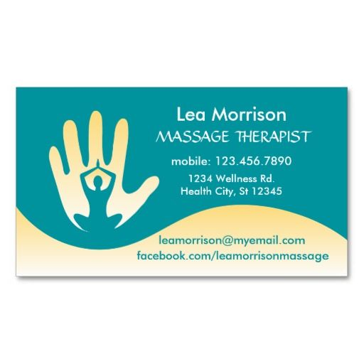 307 best massage business cards images on pinterest carte de modern massage therapist business card colourmoves