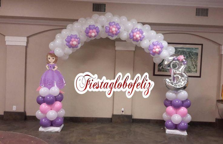 Como hacer un arco de la princesa sofia con globos