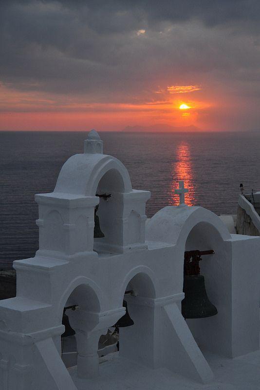 Sunset in Santorini island, Greece. - Selected by www.oiamansion in Santorini.