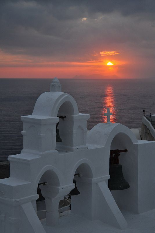 Sunset in Santorini island, Greece. - Selected by www.oiamansion in Santorini.