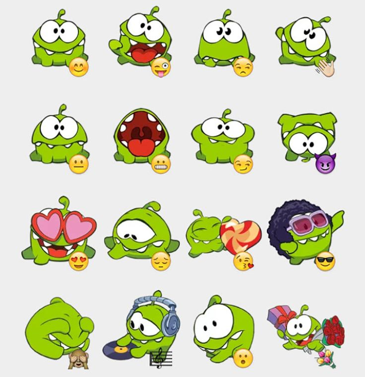 Cut the Rope Stickers Set | Telegram Stickers