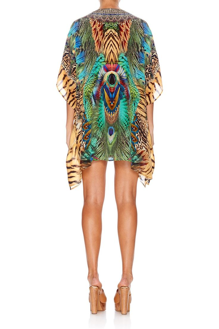 ROAR OF THE WILD SHORT LACE UP KAFTAN - Just In - Shop | CAMILLA