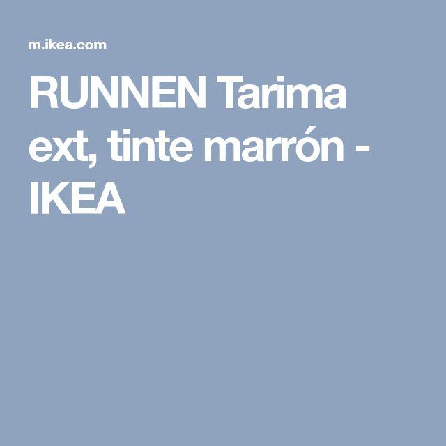 RUNNEN Tarima ext, tinte marrón - IKEA
