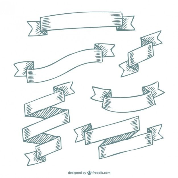 Doodle ribbon banners free Free vector. More Free Vector Graphics, www.123freevectors.com