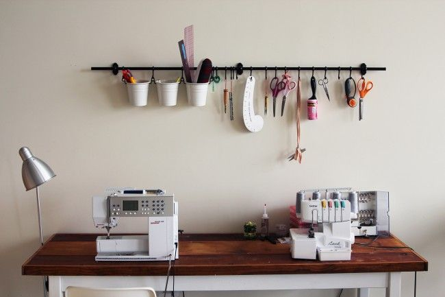 Sewing organization, machines and tools :)