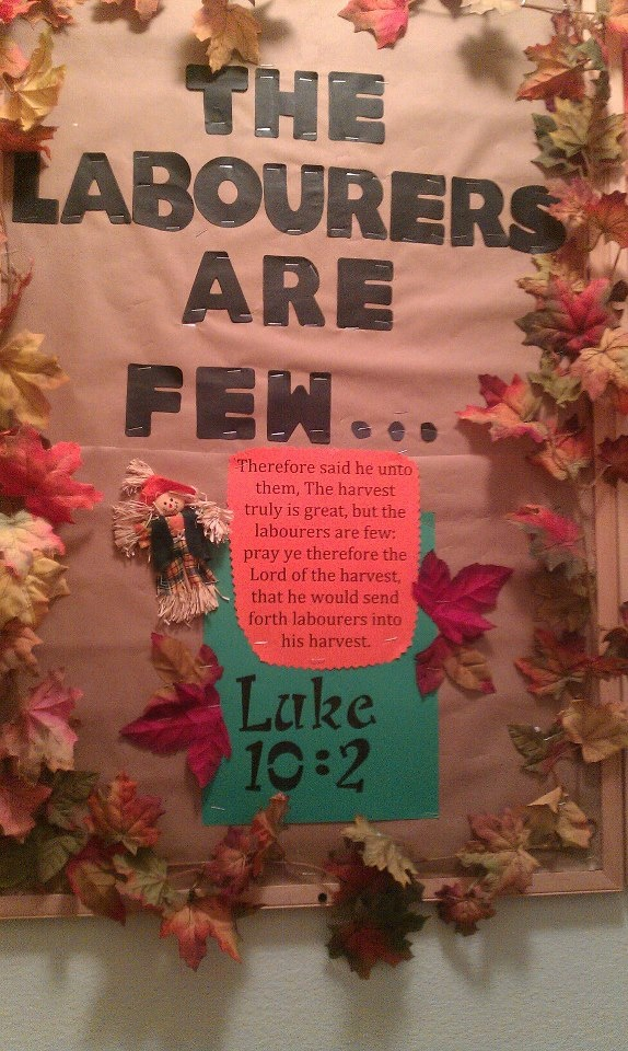 Missions Bulletin Board for Fall