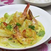 Curry léger de crevettes à la noix de coco - une recette Epicé - Cuisine