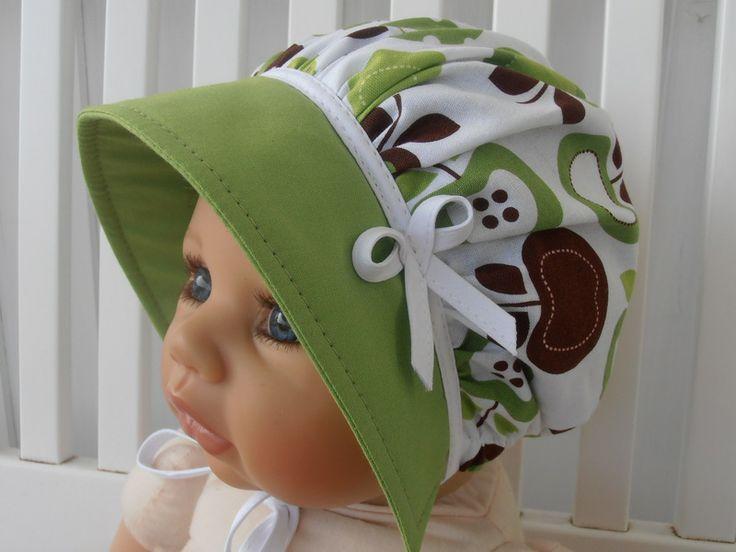 Sommerhut,Sonnenhut,Sun Bonnet,Baby Bonnet von LANTINEA auf DaWanda.com