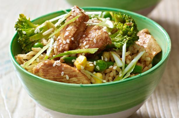 Lemon chicken and rice stir-fry recipe - goodtoknow