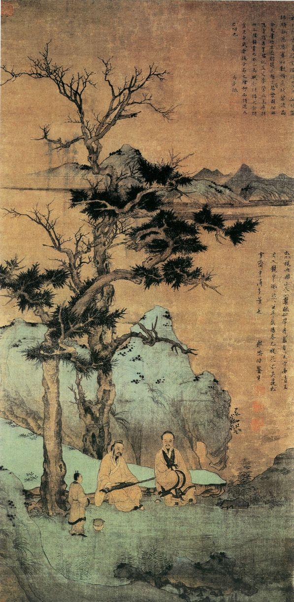 元代 - 趙孟頫 - 松陰高士圖 Zhao Mengfu (1254–1322), was a prince and descendant of the…