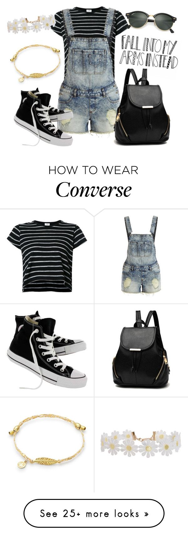 """Outfit #204"" by catytomlinson95 on Polyvore featuring RE/DONE, VILA, Converse, Humble Chic and Ray-Ban"
