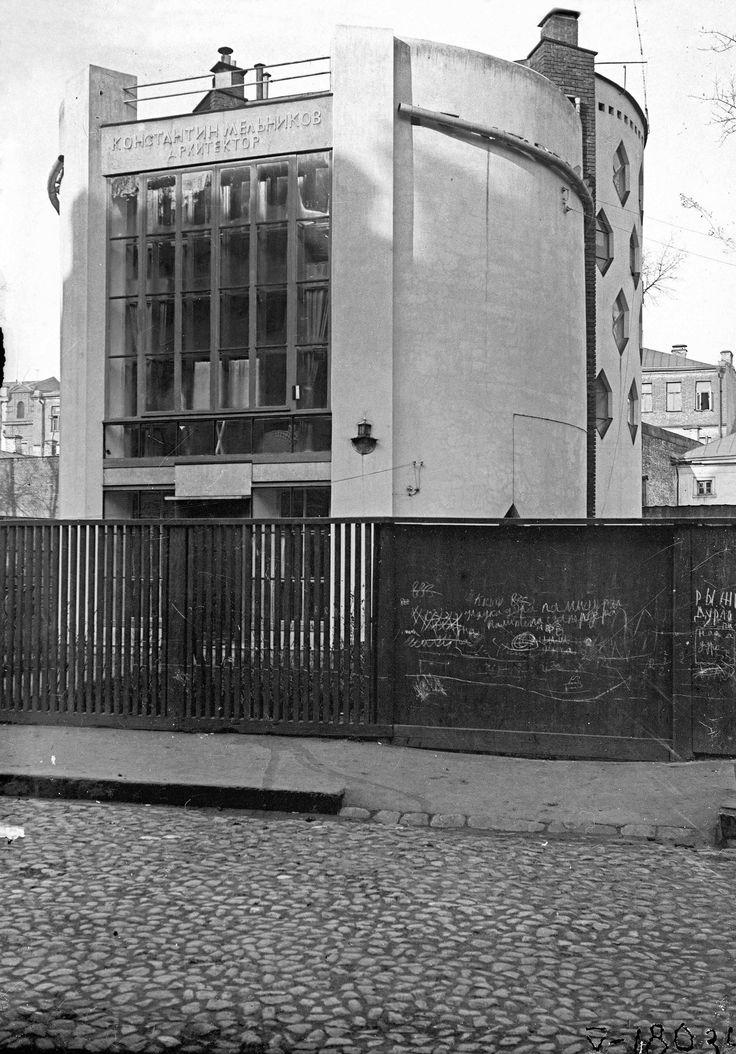 Mel'nikov house in Moscow photographed by M.A. Ilyin in 1931. (via http://thecharnelhouse.org/2013/07/08/the-melnikov-house-дом-мельникова-a-retrospective-evaluation/)