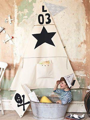 Make a play sail - Sania Pell craft project